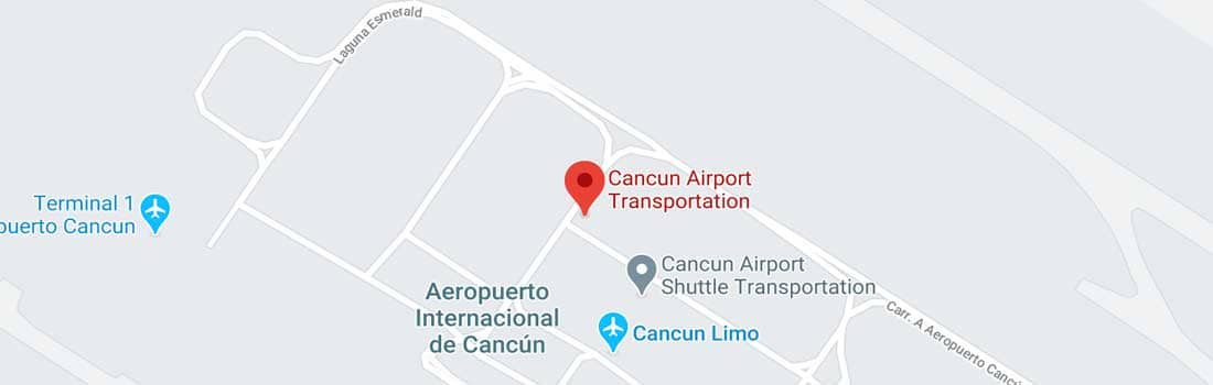 Cancun Airport Transportation map
